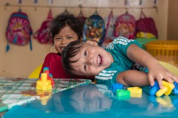 Pre-School Kids in Ecuador, laughing and playing
